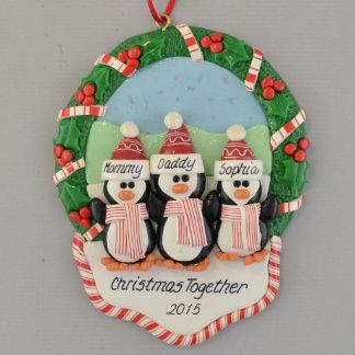 3 pingvin i julkranprydnad
