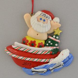 Santa i motorisk fartygpersonligprydnad